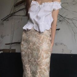 Midi skirt with S-M pattern