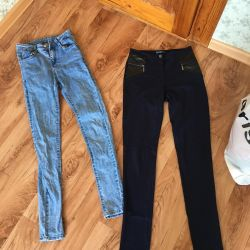 Jeans trousers package 6 pieces + belts)