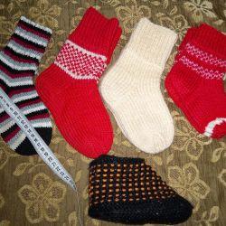 Πλεκτά κάλτσες για 2-5 χρόνια