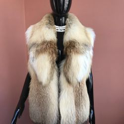 Fur vest from a fox 46/48