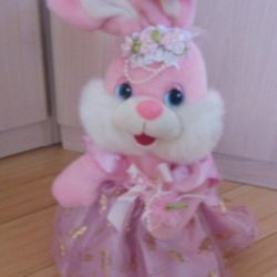 Bunny-bride for wedding decoration
