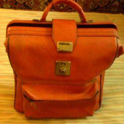 Briefcase red 34x32x18 cm