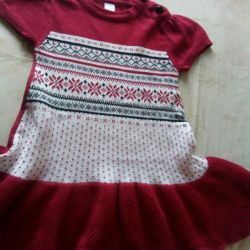 Knitted dress, r.74