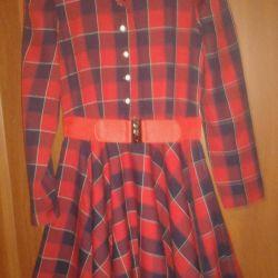 Dress half-woolen for the girl river 40-42