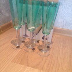 Champagne glasses Bohemia Cehă
