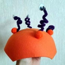 A hat for a holiday or matinee in kindergarten
