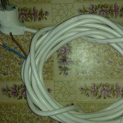Новый провод с вилкой 5.3м.