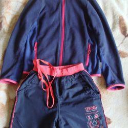 Fleece jacket, pants on fleece
