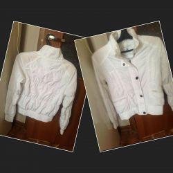 Куртка легкая белоснежная