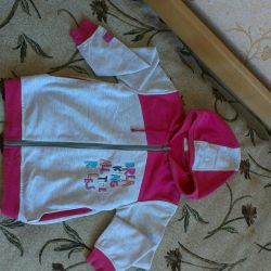 Jacket (olympia) for a girl of 7-8 years old