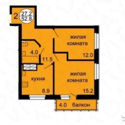 Apartment, 2 rooms, 51 m²