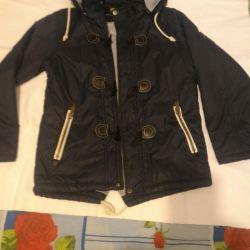 Parka jacket, autumn-spring, thin and light.