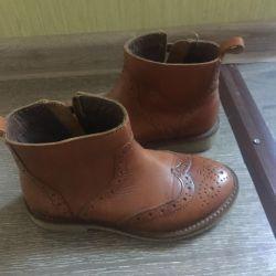 Çocuklar için deri botlar Zara (yeni)