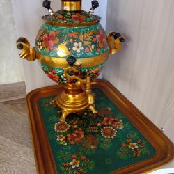 Samovar with a tray of the USSR