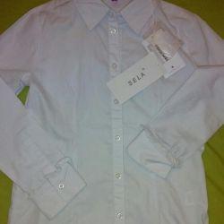 Bluză nouă, cu etichete, 134 cm
