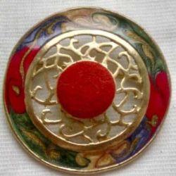 Винтажная  бижутерия эмаль 1915 - 1940 года
