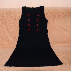 Μαύρο δεμένη (σφιχτό) φόρεμα