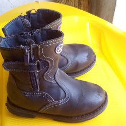 Winter boots for the boy (natur.kozh and natur.meh)