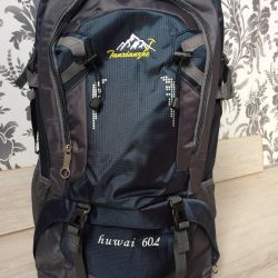 Backpack tourist Huwai 60l. Navy blue