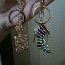 New keychain with rhinestones