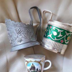 Подстаканники и сувенирная чашечка
