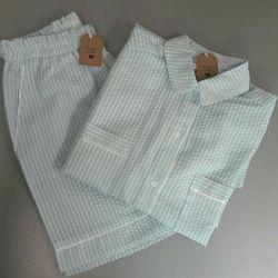 Women's long shirt with shorts.
