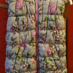 Demi-season waistcoat for 6-8 years