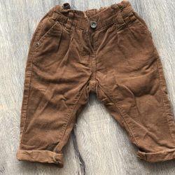 штани вельветові