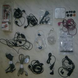 A lot of different headphones