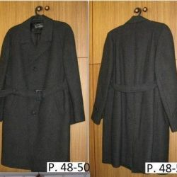 The coat is man's smart size 48-50 length is 95 cm
