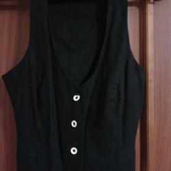 The vest is black