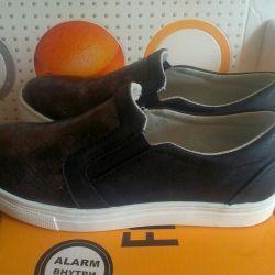 Yeni Deri Slip-on Sneakers