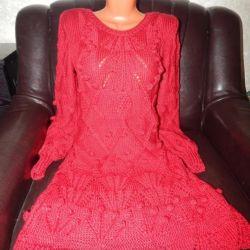 Winter warm hand made dress
