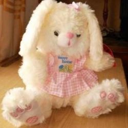 Bunny in a pink sundress 24 cm