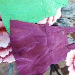 Δύο sundresses για την ηλικία των 5-7 ετών.