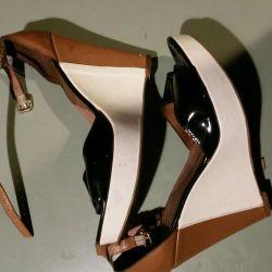 Unusual sandals.