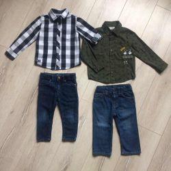 Jeans și cămăși