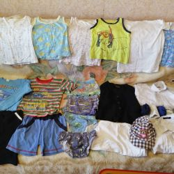 A package of clothes for a boy 110 / 128cm