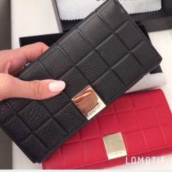 Πορτοφόλι Chanel (μαύρο, κόκκινο)
