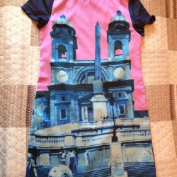 New casual summer dress with short sleeves