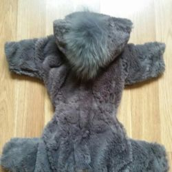 Fur coat for a small dog
