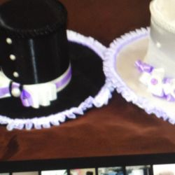 A set of hats for wedding cars