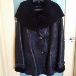 Sheepskin παλτό φυσικό (πολλά πράγματα και τα παπούτσια)