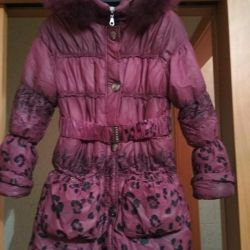 Winter down jacket for girls