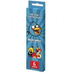 Μολύβια 6 χρώματα Angry Birds, Hatber