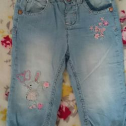 Jeans for girls on Mothercare fleece (12-18M)