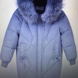Mavi kadın ceketi. Numara 44