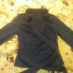 Siyah şal bluz