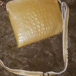 Çanta kahverengi python deri