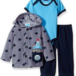 Fleece hoodie set + pants + bon Bebe bodik